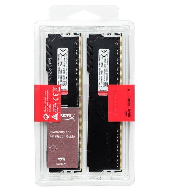 Пам'ять для ПК HyperX DDR4 3600 16GB KIT (8GBx2) Fury Black (HX436C17FB3K2/16) фото5