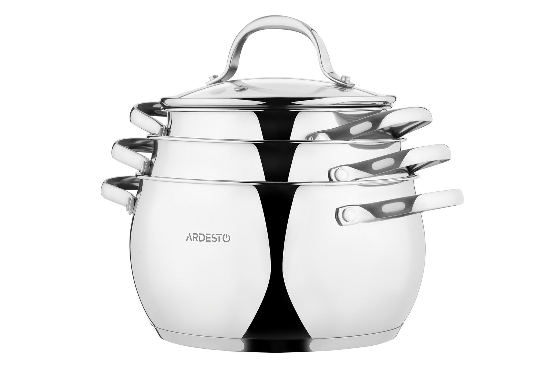 Набор посуды Ardesto Gemini, 6 предметов (AR1906GSS) фото