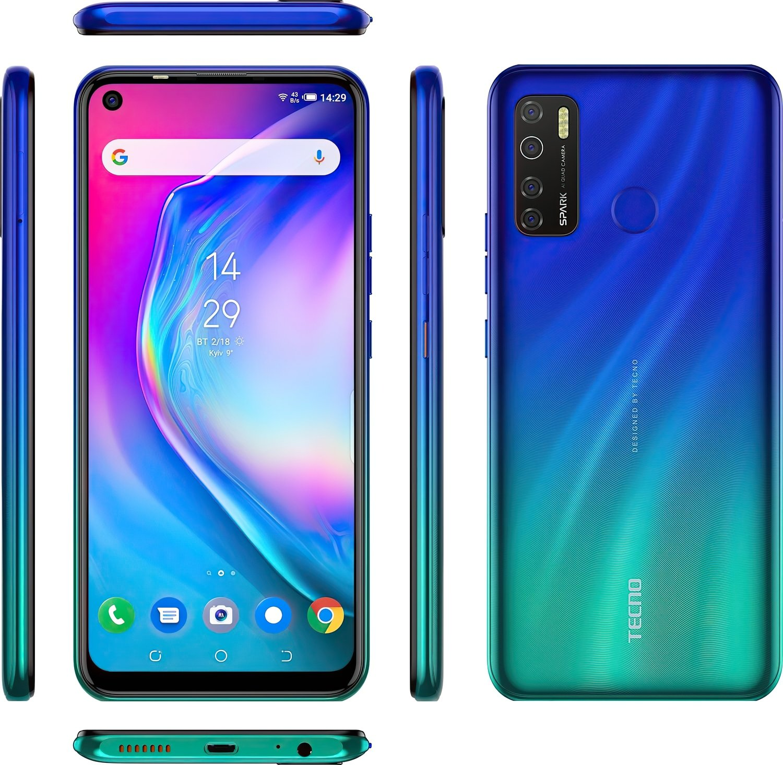Смартфон TECNO Spark 5 Pro (KD7) 4/128Gb DS Seabed Blue фото 8