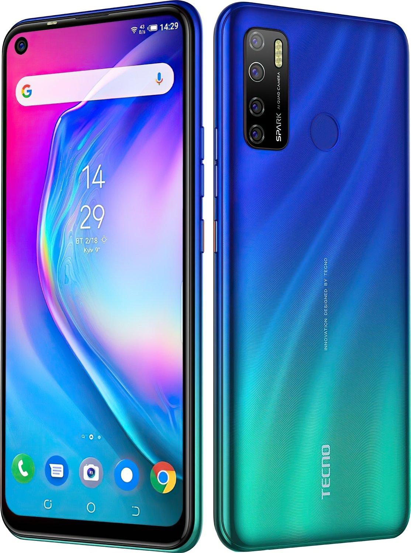 Смартфон TECNO Spark 5 Pro (KD7) 4/128Gb DS Seabed Blue фото 3