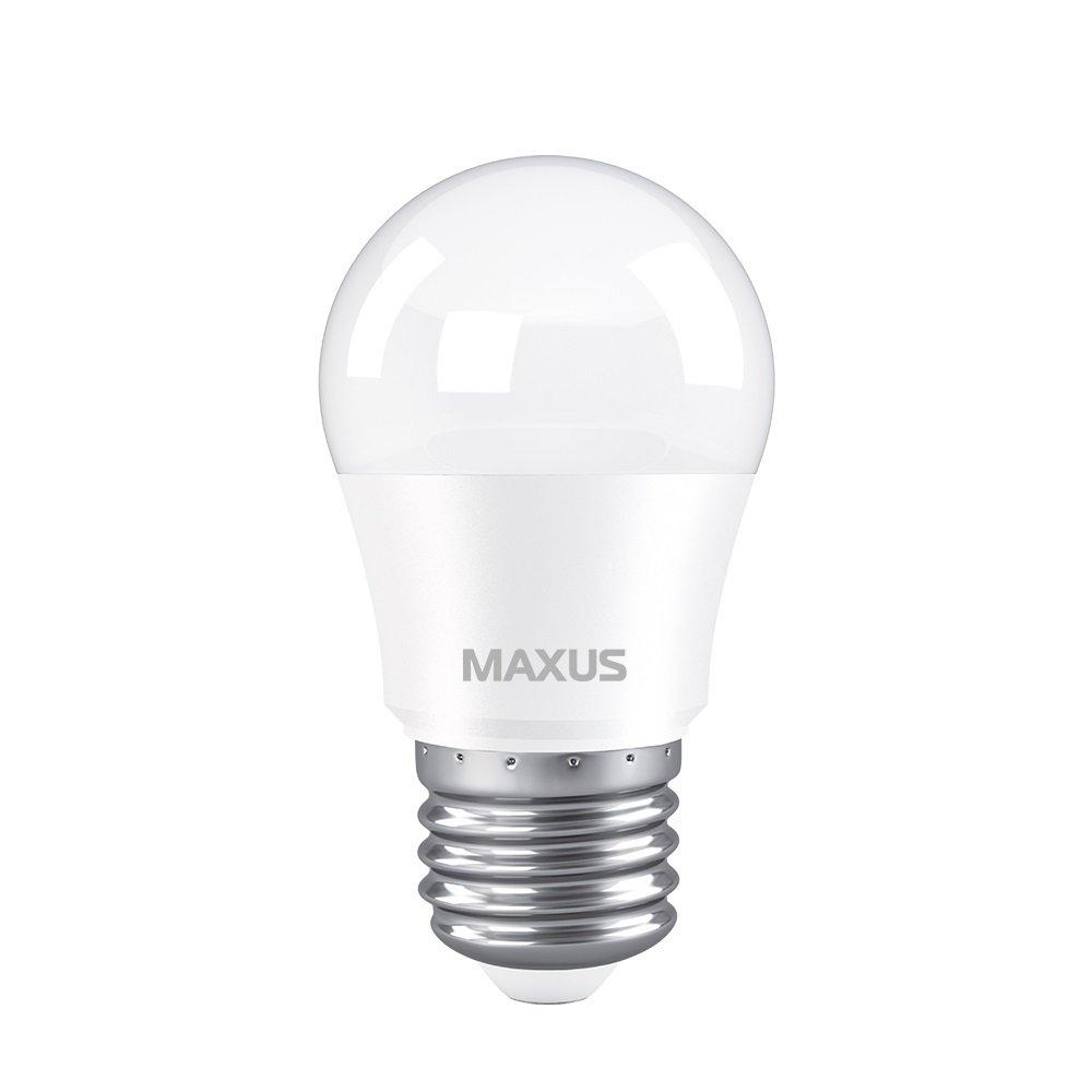 Светодиодная лампа MAXUS G45 5W 3000K 220V E27 (1-LED-741) фото 2