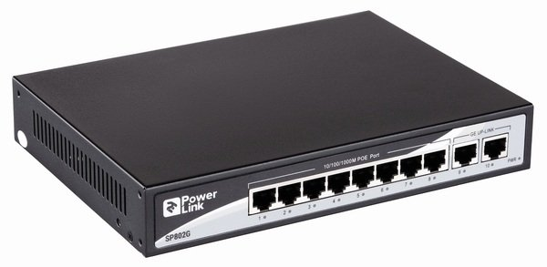 Комутатор 2E PowerLink SP802G 10xGE (8xGE PoE, 2xGE Uplink, 150W) фото 2