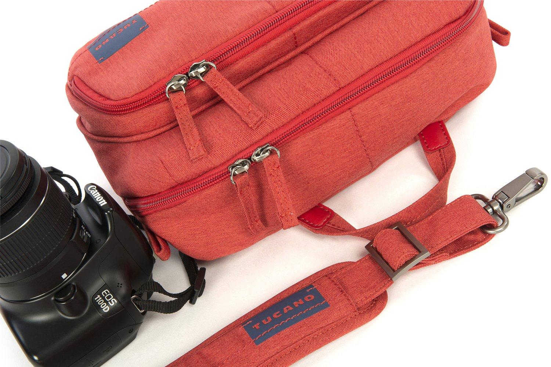 Сумка для фото-видео камеры Tucano Contatto Digital Bag Medium (красная) фото