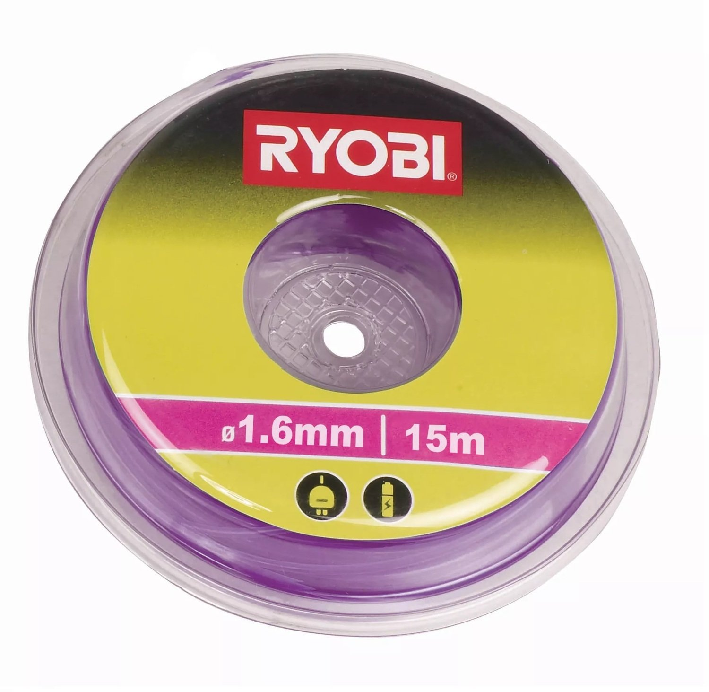 Леска для триммера Ryobi RAC101 1.6мм 15м фиолетовая фото