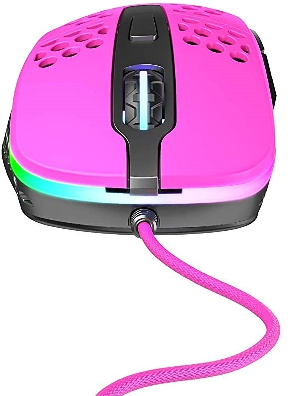 Миша ігрова Xtrfy M4 RGB, Pink фото
