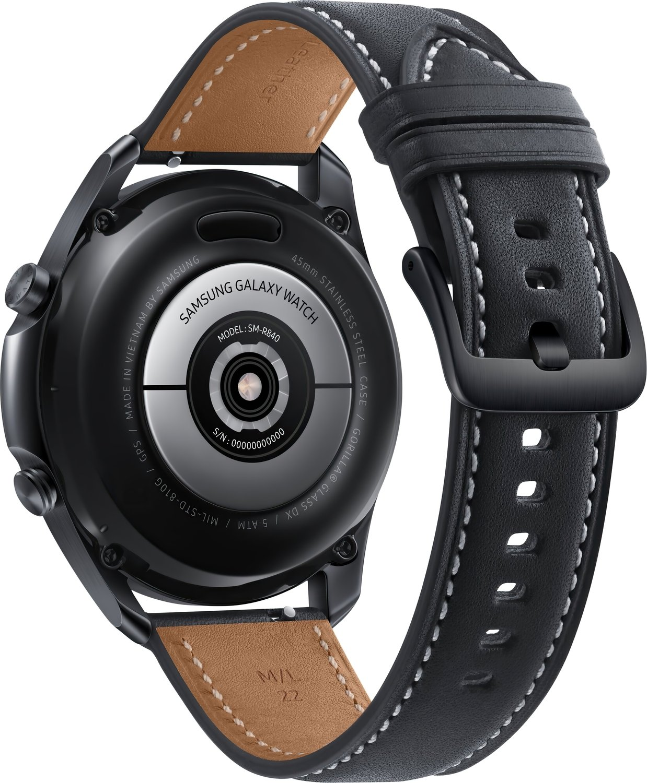 Смарт-часы Samsung Galaxy Watch 3 45mm Black (SM-R840NZKASEK) фото