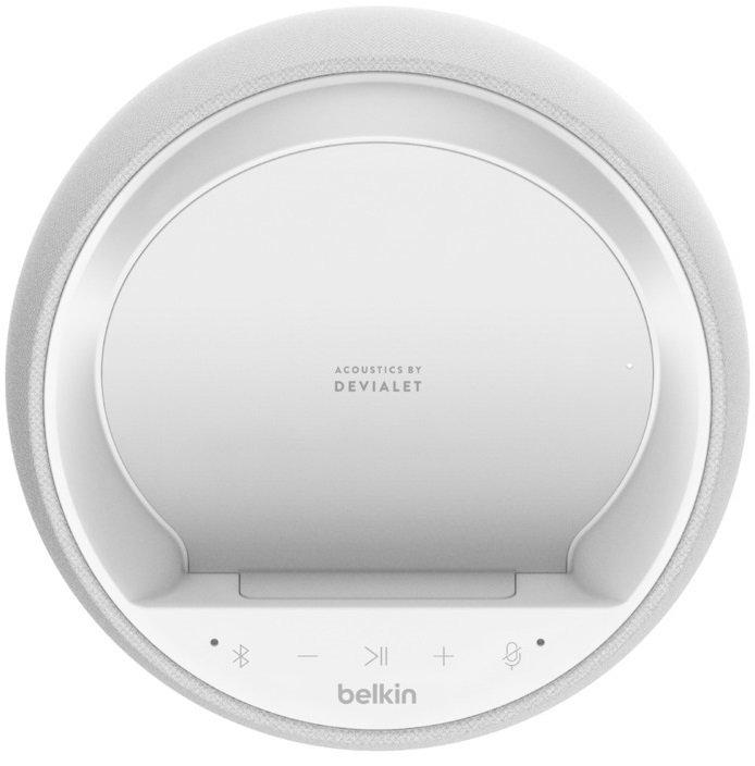 Смарт спикер Belkin + беспроводная зарядка Devialet Soundform Elite, white фото 5