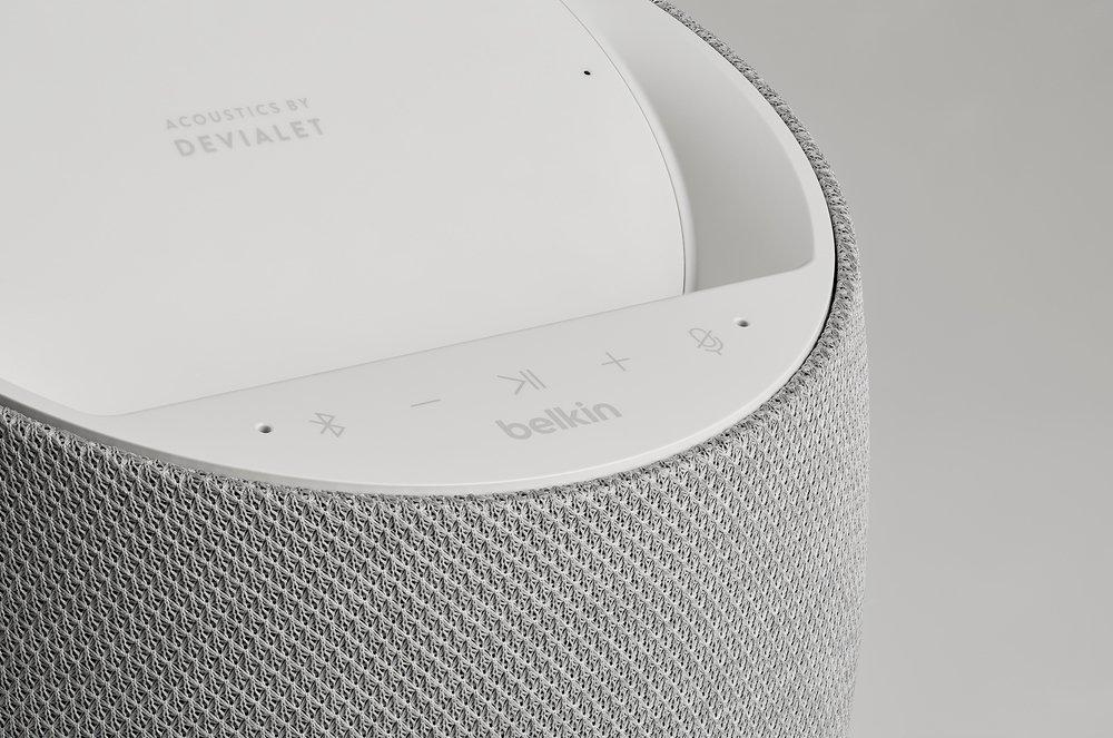 Смарт спикер Belkin + беспроводная зарядка Devialet Soundform Elite, white фото 10