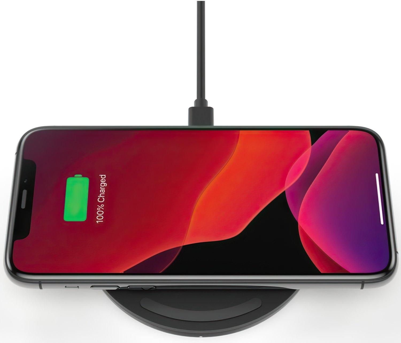 Беспроводное зарядное устройство Belkin Pad Wireless Charging Qi, 10W, no PSU, black фото 5