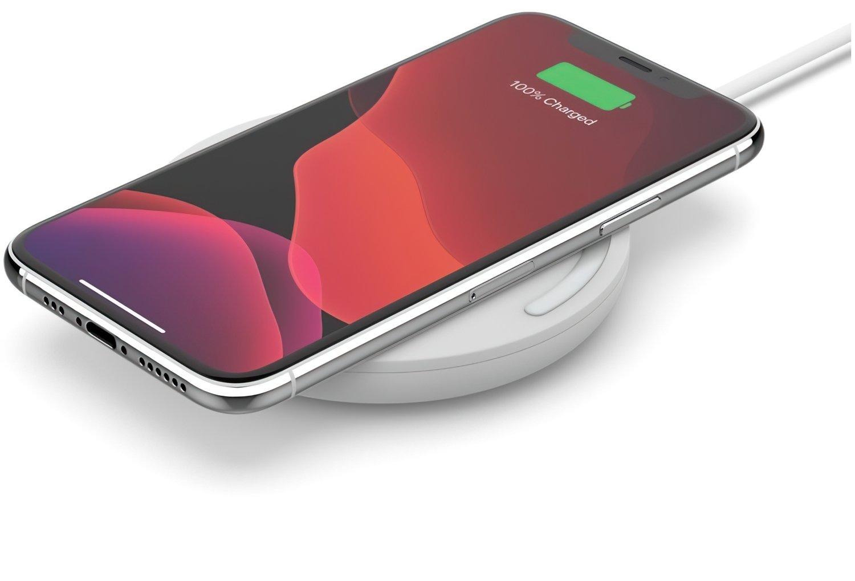 Бездротове зарядний пристрій Belkin Pad Wireless Charging Qi, 10W, no PSU, white фото5