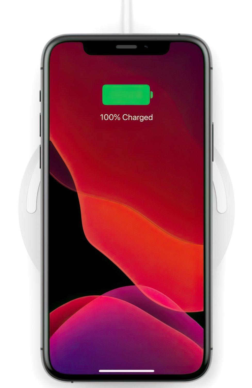 Бездротове зарядний пристрій Belkin Pad Wireless Charging Qi, 10W, no PSU, white фото6