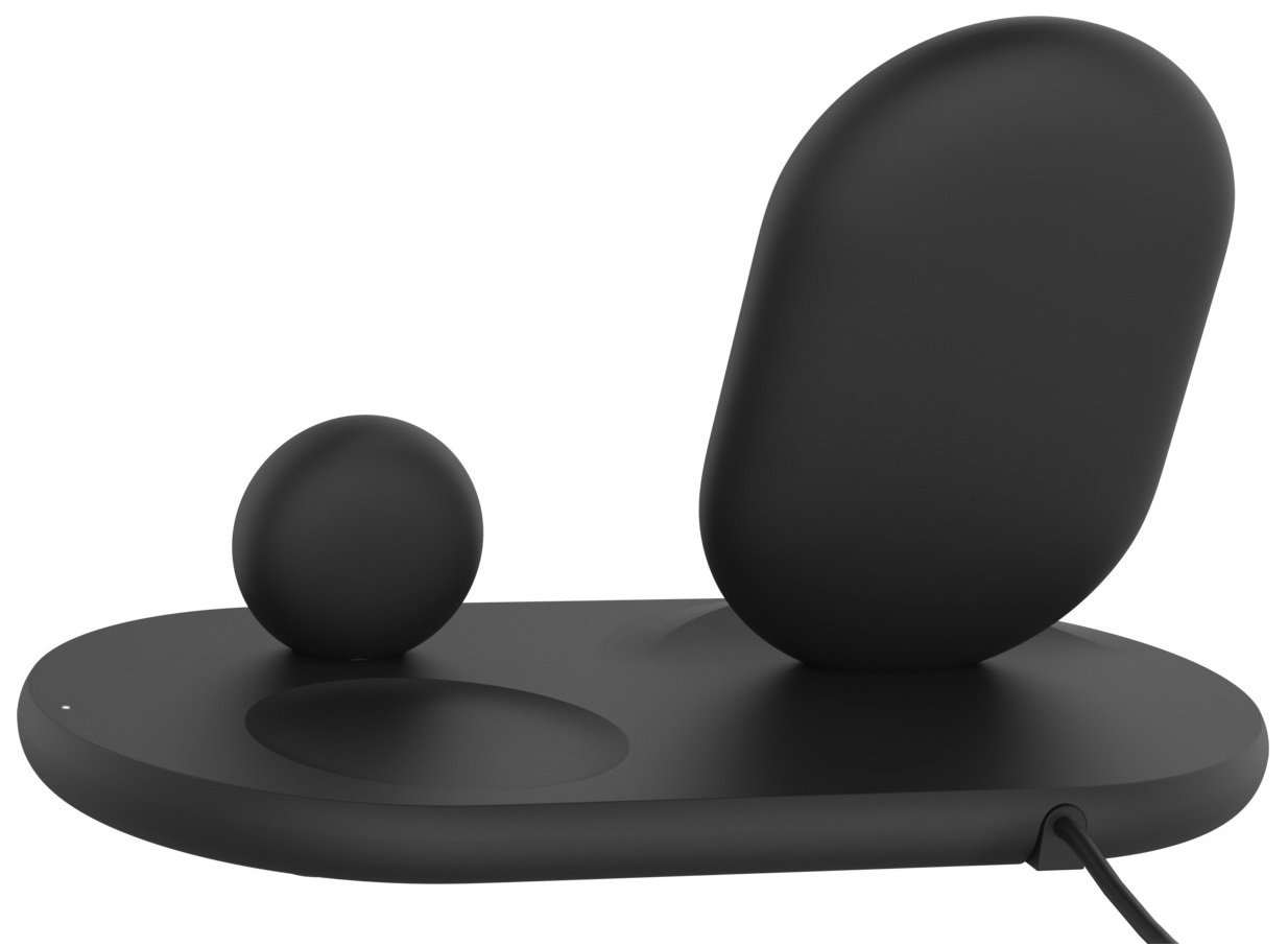 Беспроводное зарядное устройство Belkin 3-in-1 Wireless Pad/Stand/Apple Watch, black фото 2