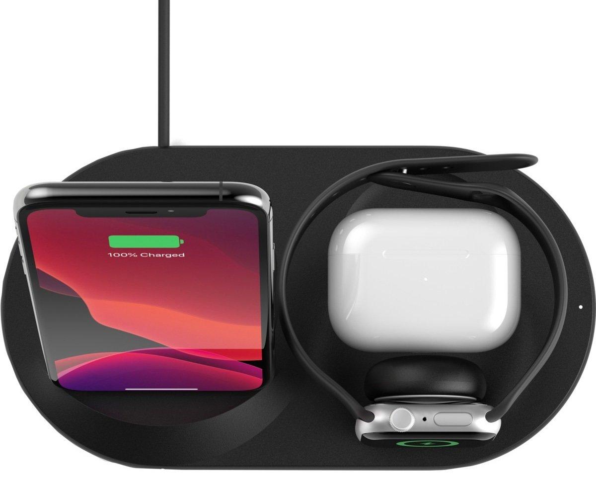 Беспроводное зарядное устройство Belkin 3-in-1 Wireless Pad/Stand/Apple Watch, black фото 7