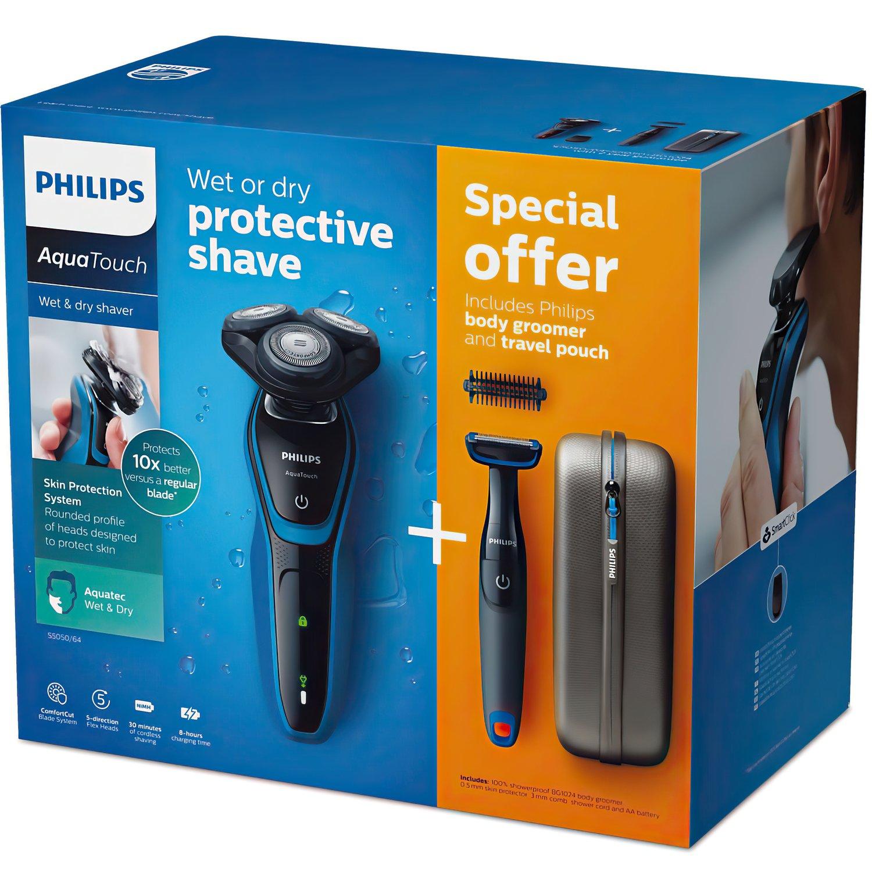 Электробритва для влажного и сухого бритья Philips AquaTouch фото 9