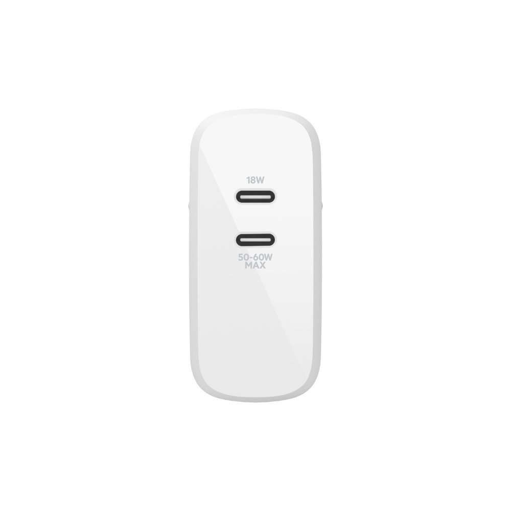 Сетевое ЗУ Belkin GAN (50+18W) Dual USB-С, white фото 3