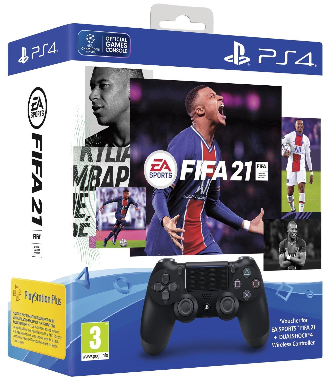 Беспроводной геймпад SONY Dualshock 4 V2 Jet Black для PS4 (FIFA 21+PSPlus 14 дней) (9835325) фото 2