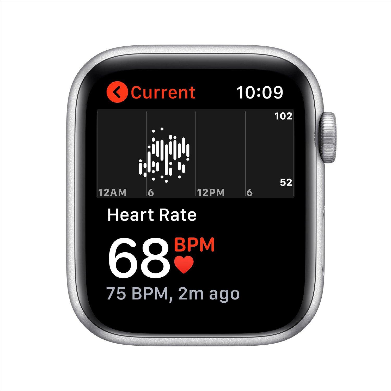 Смарт-годинник Apple Watch Nike SE GPS 40mm Silver Aluminium Case with Pure Platinum/Black Nike Sport Band Regular фото