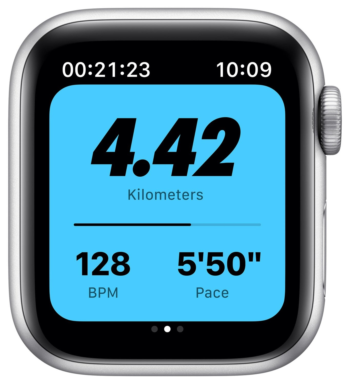 Смарт-годинник Apple Watch Nike Series 6 GPS 40mm Silver Aluminium Case with Pure Platinum/Black Nike Sport Band Regular фото