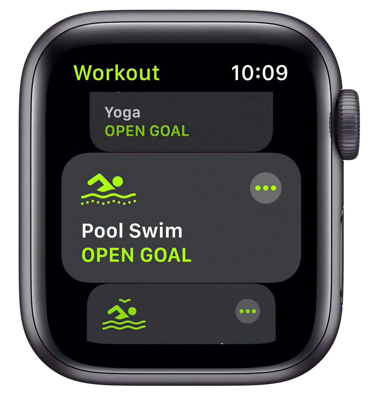 Смарт-часы Apple Watch SE GPS 40mm Space Gray Aluminium Case with Black Sport Band Regular фото