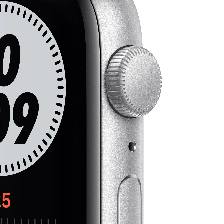 Смарт-часы Apple Watch Nike SE GPS 44mm Silver Aluminium Case with Pure Platinum/Black Nike Sport Band Regular фото