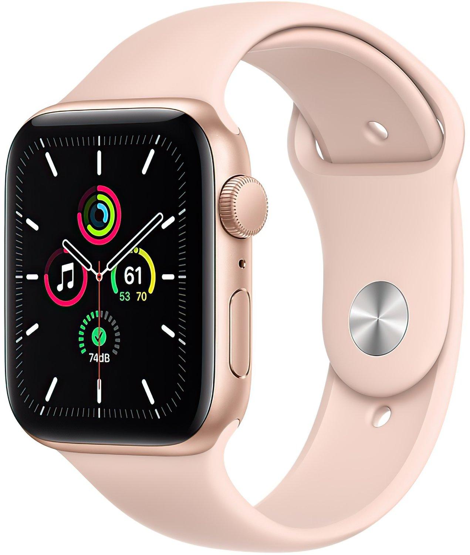 Смарт-часы Apple Watch SE GPS 44mm Gold Aluminium Case with Pink Sand Sport Band Regular фото