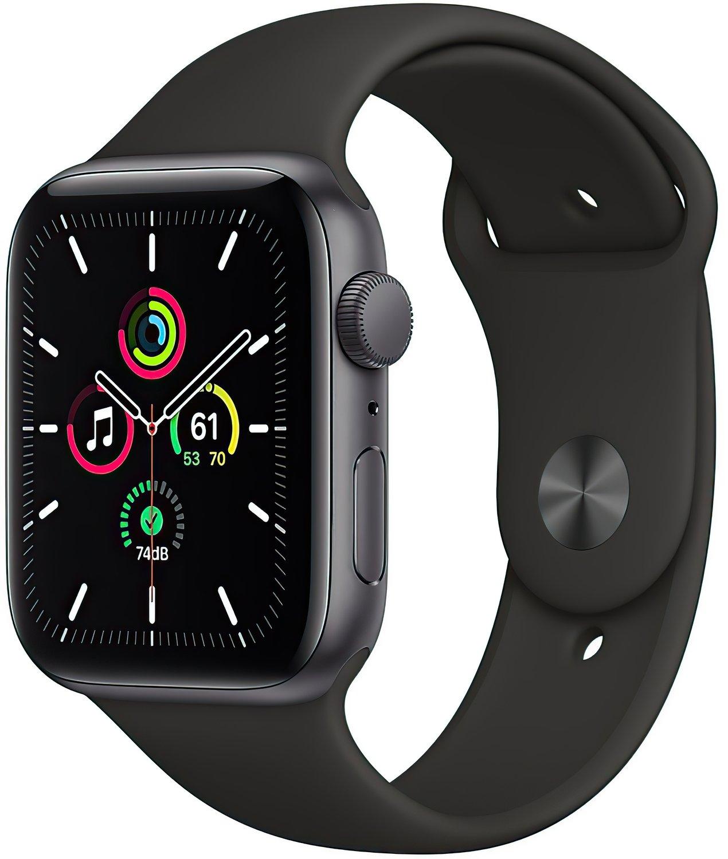 Смарт-годинник Apple Watch SE GPS 44mm Space Gray Aluminium Case with Black Sport Band Regular фото