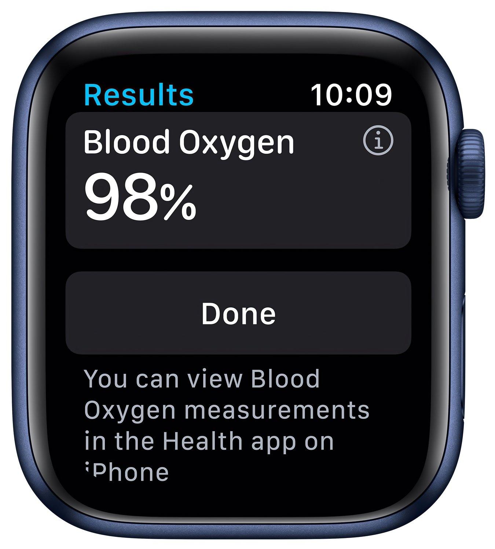 Смарт-часы Apple Watch Series 6 GPS 44mm Blue Aluminium Case with Deep Navy Sport Band Regular фото