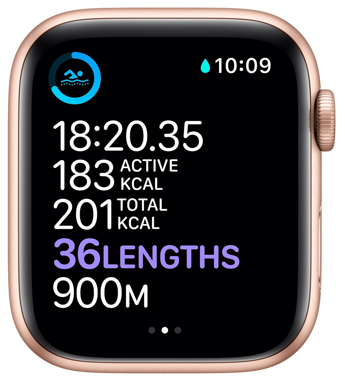 Смарт-годинник Apple Watch Series 6 GPS 44mm Gold Aluminium Case with Pink Sand Sport Band Regular фото