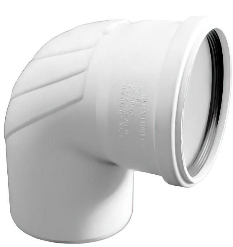 Отвод канализационный Rehau Raupiano Plus, 110-45 ° фото 2