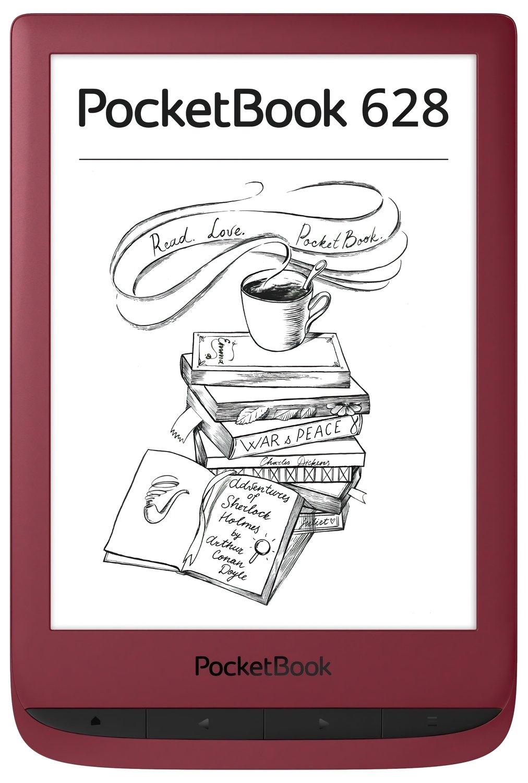 Електронна книга PocketBook 628 Ruby Red фото2