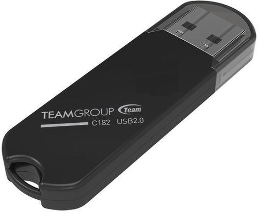 Накопичувач USB 2.0 Team 16GB C182 Black (TC18216GB01) фото