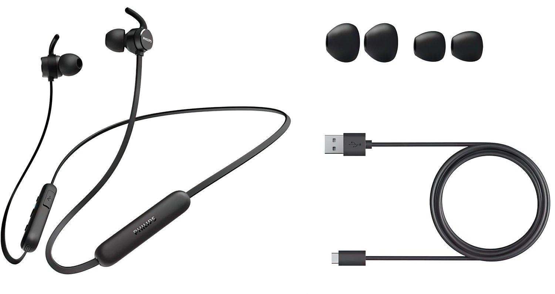 Навушники Bluetooth Philips TAE1205 In-ear Wireless Mic Black фото