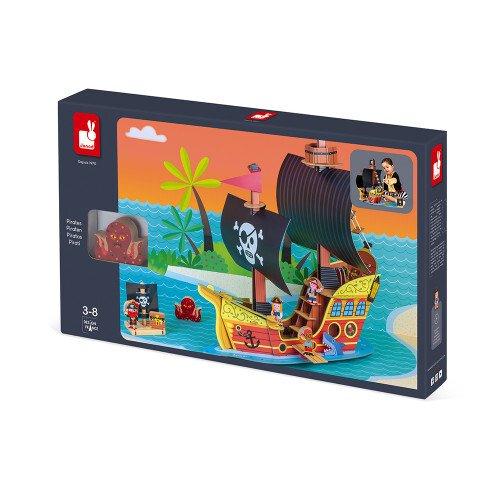 Игровой набор Janod Корабль пиратов 3D J08579 фото