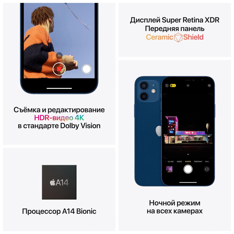 Смартфон Apple iPhone 12 mini 128GB Blue (MGE63) фото 5