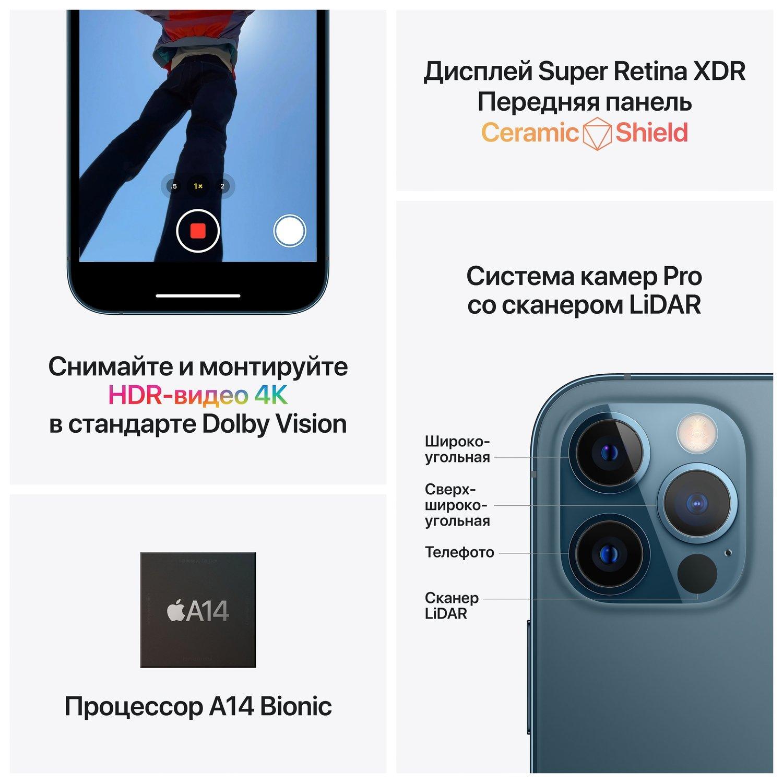 Смартфон Apple iPhone 12 Pro 256GB Graphite (MGMP3) фото 5