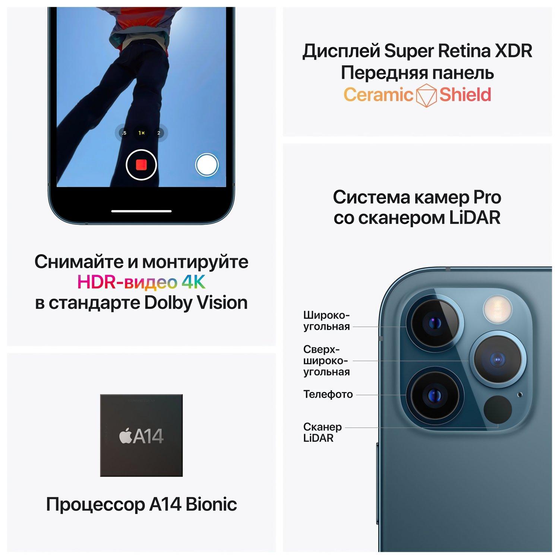Смартфон Apple iPhone 12 Pro 256GB Pacific Blue (MGMT3) фото 5