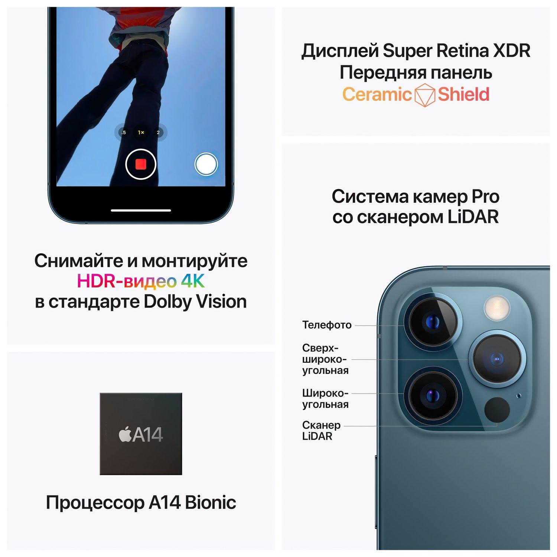 Смартфон Apple iPhone 12 Pro Max 256GB Pacific Blue (MGDF3) фото 6