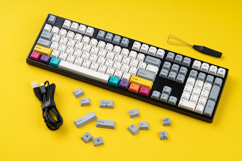 Игровая клавиатура Varmilo VA108M CMYK Cherry MX Red (VA108MR2W/LLK12RB) фото