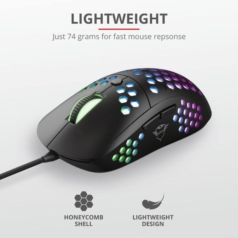 Миша Trust GXT 960 Graphin Ultra-lightweight RGB Black (23758_TRUST) фото