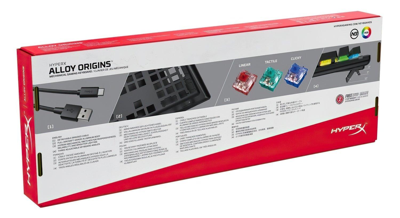 Игровая клавиатура HyperX Alloy Origins USB Blue (HX-KB6BLX-RU) фото 7