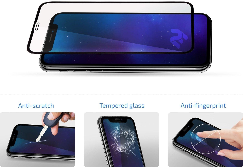 Защитное стекло 2E для Apple iPhone 12/12 Pro 2.5D FCFG Black Border фото 4