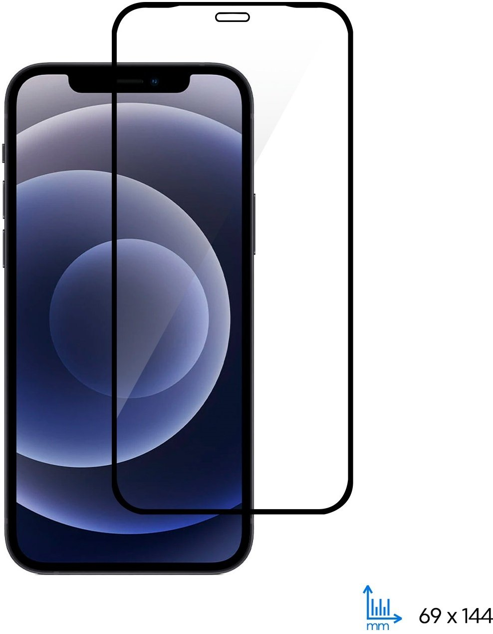 Защитное стекло 2E для Apple iPhone 12/12 Pro 2.5D FCFG Black Border фото 6