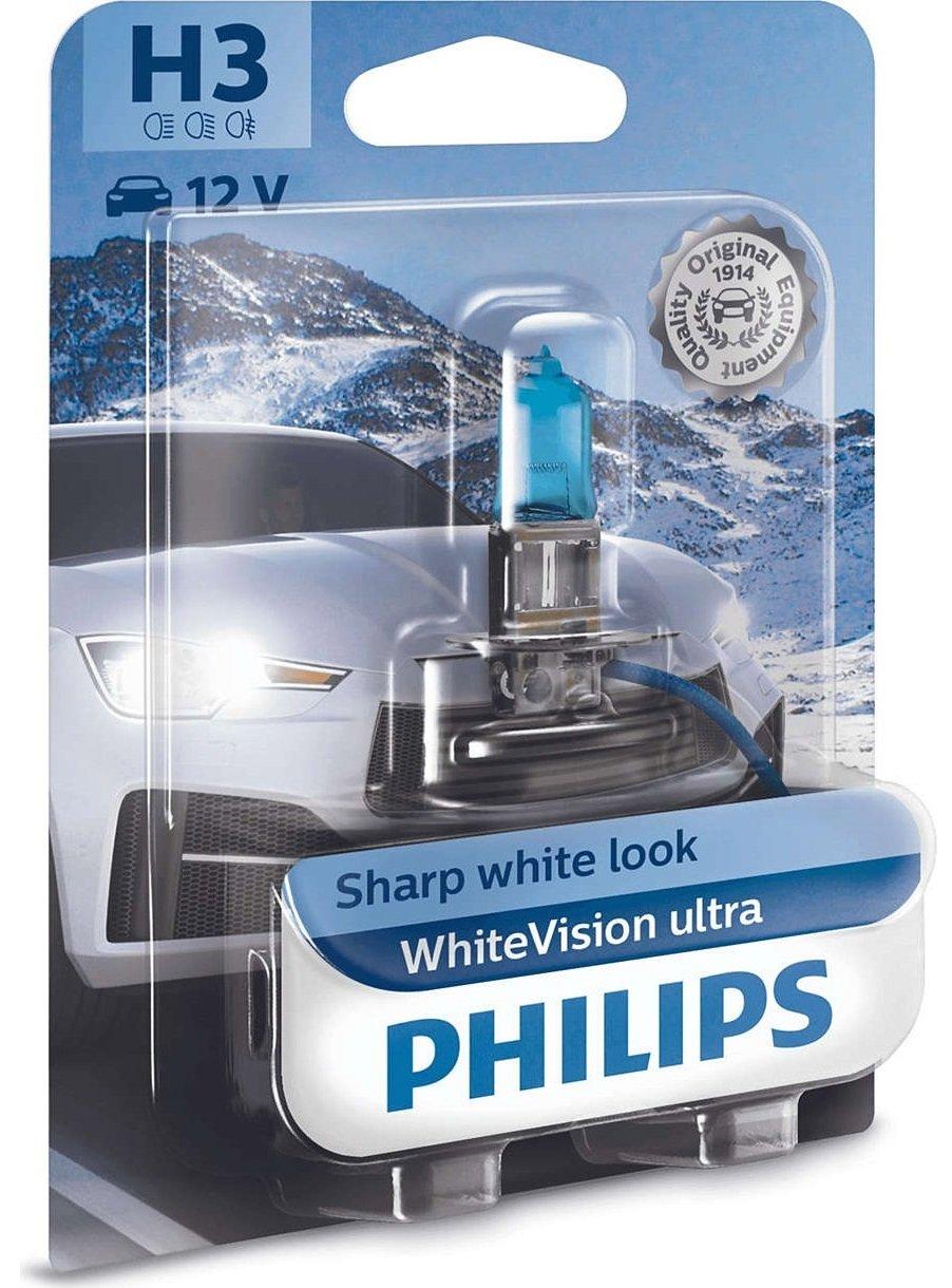 Лампа галогенная Philips H3 WhiteVision Ultra фото 3