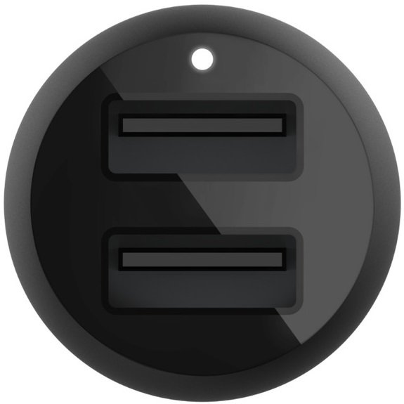 Автомобильное ЗУ Belkin Car Charger 24W Dual MicroUSB 1m Black (CCE002BT1MBK) фото