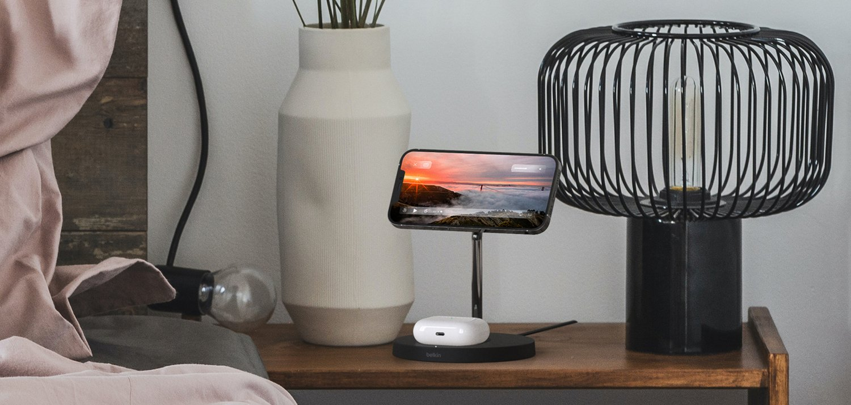 Бездротове ЗУ Belkin MagSafe 2-in-1 Wireless Charger Black (WIZ010VFBK) фото