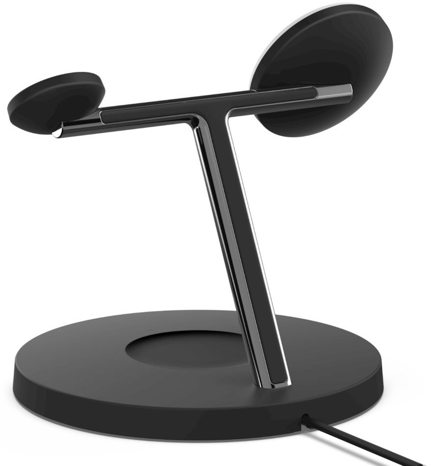 Бездротове ЗУ Belkin MagSafe 3-in-1 Wireless Charger Black (WIZ009VFBK) фото