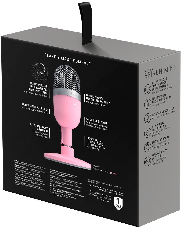 Микрофон Razer Seiren Mini Quartz (RZ19-03450200-R3M1) фото