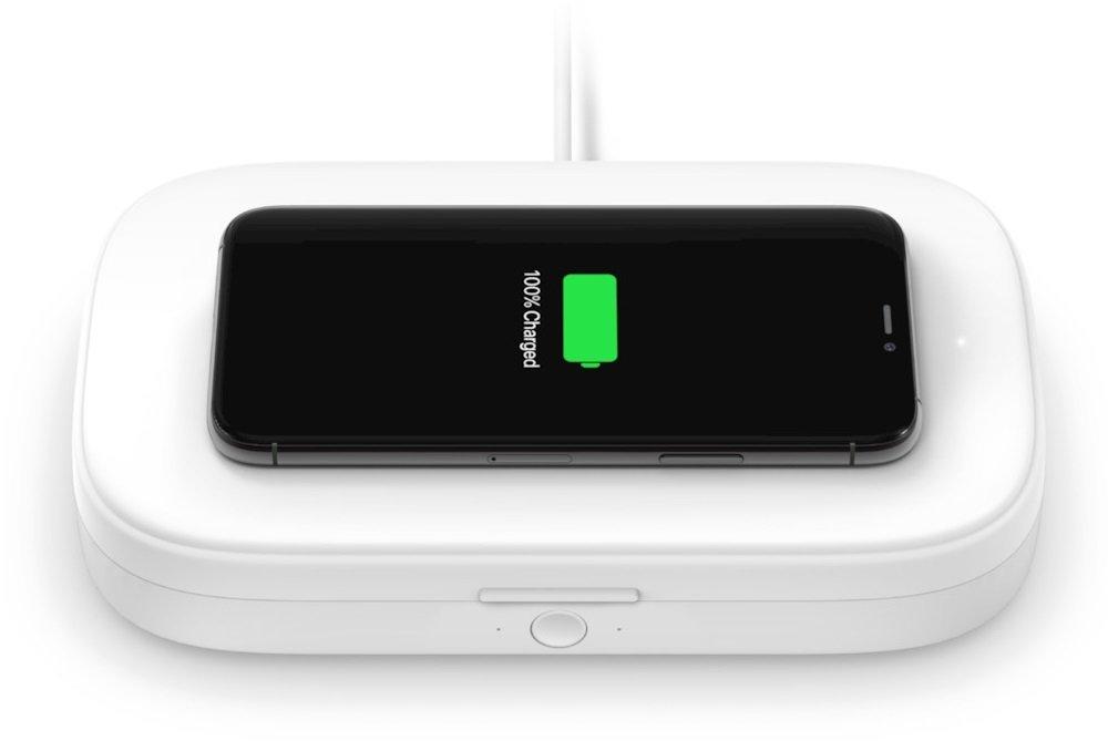 UV-стерилизатор и беспроводное зарядное устройство Belkin Wireless Charging Qi 10W White (WIZ011BTWH) фото 3