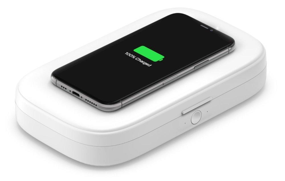 UV-стерилизатор и беспроводное зарядное устройство Belkin Wireless Charging Qi 10W White (WIZ011BTWH) фото 2