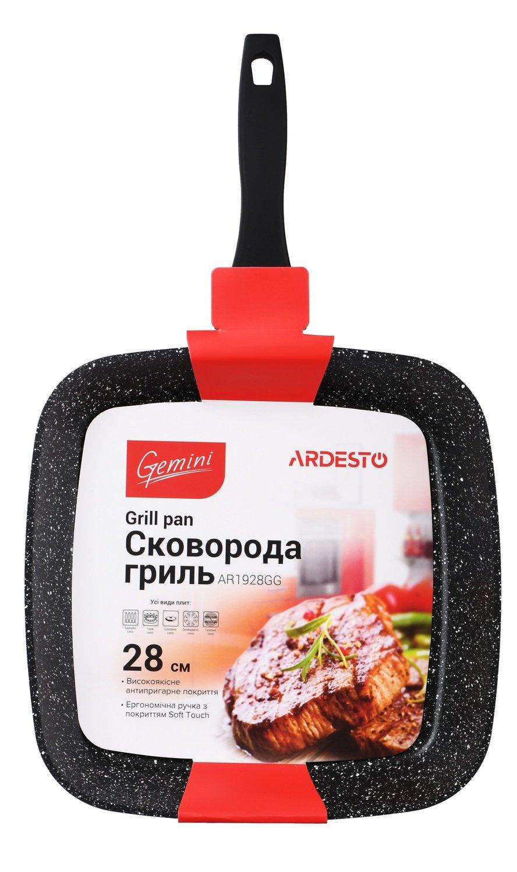 Сковорода гриль Ardesto Gemini алюминий, 28 см (AR1928GG) фото 3